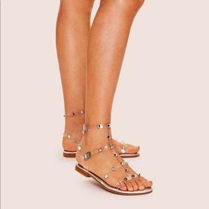 Shein Studded Decor Strappy Sandals